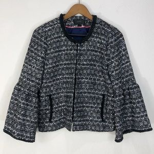 J.CREW Tweed Sequins Blazer Jacket Size 6